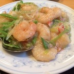 26669976 - 芝海老とカニ肉の炒め