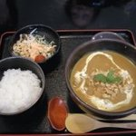 にしむら屋 - カレーうどんBセット トッピング チキン
