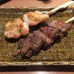 ひなっ子 鳥栖店 - 串焼き(むね小肉とハツ)
