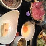 26672422 - 黒毛和牛の葱すき焼き ¥1,300-