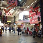キャベツ焼 - 天神橋筋商店街4番街アーケード内にあります。