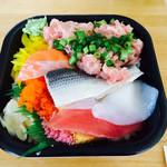 丼の丼丸 - 満腹丼(シャリが多め 500円)