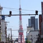 つるとんたん - 東京タワーよく見える