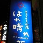 はれ晴れ 川崎店 - これもお店の看板です。ロゴが可愛いですよね。