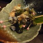串打ち工房 焼串 - 煮貝の盛り合わせ
