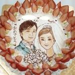 チェリボン洋菓子店 - 結婚式のお写真  イラストケーキ