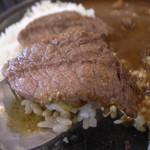 三田屋総本家カレーの店 - ランプ肉のステーキアップ