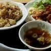Sanchan - 料理写真:炒飯500円+唐揚げ350円