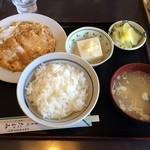 たかみ - かつ玉定食(201402)