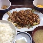 盛岡食堂 - 肉味噌炒め定食
