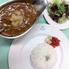 Yonhikinoneko - 料理写真:あべ鶏と青森リンゴのカレー