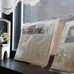レストハウスポプラ - レストラン ポプラのことが書かれた書物が、窓際に飾られていました