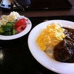 Forukusu - 第二の皿(自己流ハッシュドオムライスwithミンチカツ)&サラダ