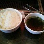 Yakiniku TAIGA - ライスとスープ