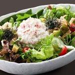 居食屋「和み亭」 - 【有機野菜のわたみサラダ】523円 カニマヨとたっぷり野菜。わたみの思いがココに…