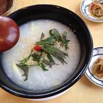 薬膳 天地・礼心 東方人康食養館 - 生姜紫蘇粥600円。                             解毒・発汗作用があり、邪気を払う効果があるそうです。