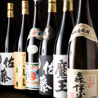 プレミアム焼酎や日本酒など多数揃えています。