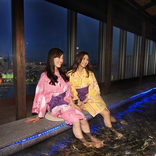 足湯で神戸の夜景にうっとり