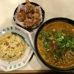 26708287 - 坦々麺と焼飯セット(上方から)