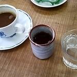 三本松茶屋 - コーヒー、お茶、水(2014/4)