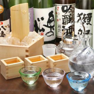全国から選りすぐりの本格焼酎・日本酒!『飲み比べ』もOK!