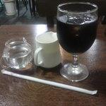 オリーブハウス - Bセットのアイスコーヒー