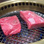 焼肉&ステーキ 格之進R - トウガラシ(左)・ソトバラ【2014年4月】