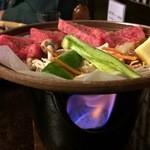 いちだ - 料理写真:飛騨牛の朴葉焼き