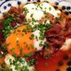 福かず - 料理写真:牛すじ卵まみれ。 甘辛く煮込まれた牛すじに温泉卵をトッピング。