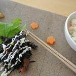 おおむろ軽食堂 - 京都銘竹箸が細くて使いやすい。