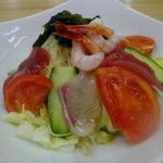 四ツ木製麺所 - 海鮮サラダ