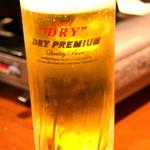 鳥づくし - ビールはスーパードライプレミアム