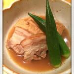 この世の天国 - 厚切り豚バラと厚揚げの炊き合わせ 2014.4