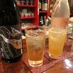 握り心 山ぼうし - 梅酒はさっぱりと濁りの2種があります。