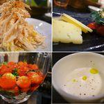 京都ダイナー - ポテトサラダやチーズなど。