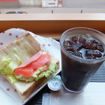 オアシス珈琲 天神店 - モーニング サンドイッチセット