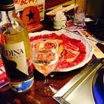 ちゃんぐん平岡亭 - 料理写真:とりあえずちゃんぐんセットとお決まりワイン!