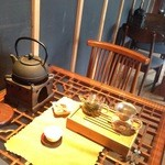 26746679 - 緑茶の道具立て