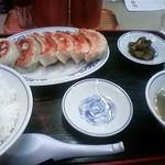 古寿茂 - 餃子ライス(620円)です。麻婆豆腐が付いた餃子定食がなくなりこちらになりました。