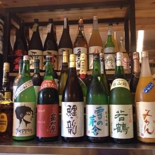 レアな日本酒も取り揃えております!