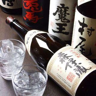 焼酎や日本酒50種類以上ご用意しております!