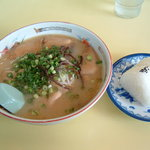 天津ラーメン - 2007年 チャーシュー麺&おにぎり