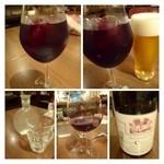 26759500 - ◆「サングリア」と「ビール」、「赤ワイン」などを飲みながら。左下は「お水」です。