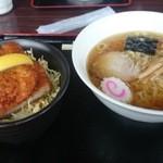 水峰 - ラーメン ミニソースカツ丼