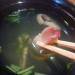 竹鮨 - 吸い物 ホッキでした