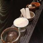 鳴尾山芋研究所 フラットブッシュ - 三種の山の芋と練りウニのハンドロール 自然薯・大和芋・長芋 大和芋のフリーズドライ