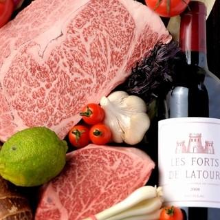 焼肉とワインのマリアージュをお楽しみください。
