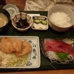 お魚料理 うおせい - マグロとアジフライ定食