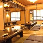 遊食屋 - 50名様までOKのお座敷 3つに間仕切り出来ます。