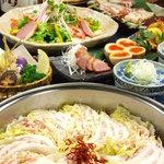 高田屋 - 豚肉と白菜のミルフィーユ鍋コース 全9品飲み放題込み3980円